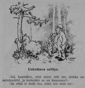 Nykyään huolenaiheena on se, etteivät lapset erota mäntyä kuusesta. Huoli ei ole aivan uusi, sillä Kurikka -huumorilehdessä väännettiin vitsiä urbanisoituvien suomalaisten luonnosta vieraantumisesta jo vuonna 1910.